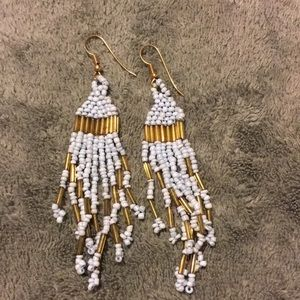 Vintage Glass Bead Dangle Earings